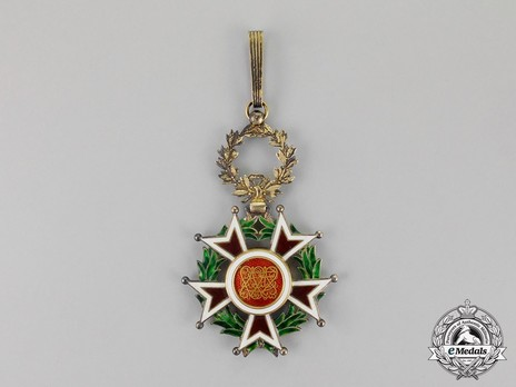 Order of the Brilliant Star of Zanzibar, Type III, II Class Officer Reverse