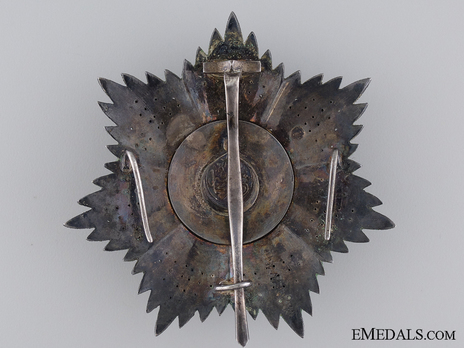 Order of Medjidjie, Civil Division, II Class Breast Star Reverse