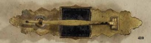 Close Combat Clasp, in Gold, by Funcke & Brüninghaus Reverse