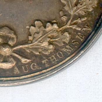 "Silver Medal (obverse stamped ""LINDAHL"" reverse stamped ""AUG. THOMSEN"") Reverse Detail"