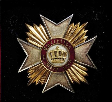 Order of the Württemberg Crown, Civil Division, I Class Commander Breast Star (1889-1918)