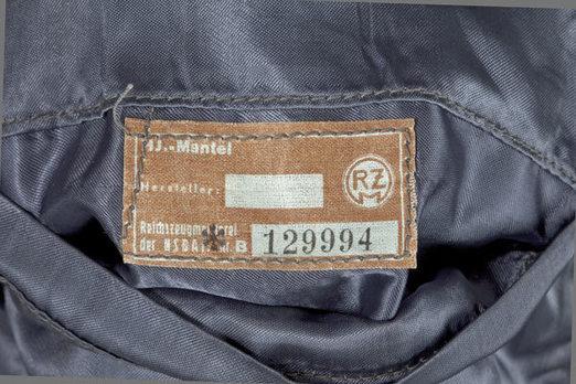HJ Luftwaffe War Auxiliaries (Flak Helper) Winter Coat Maker Mark