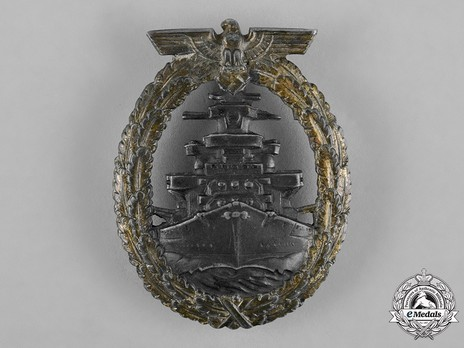 High Seas Fleet Badge, by C. Schwerin (in zinc) Obverse