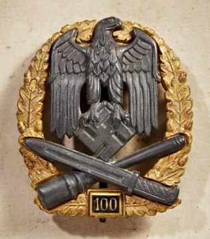 """General Assault Badge, """"100"""" Obverse"""