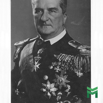 Miklos Horthy de Nagybanya wears the Hungarian Order of Merit