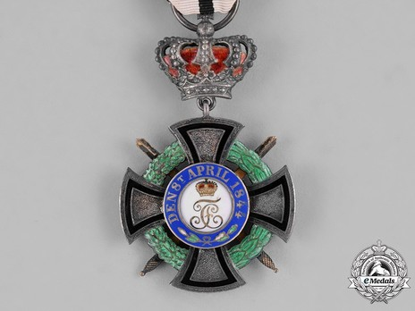 House Order of Hohenzollern, Type II, Military Division, III Class Honour Cross (with crown and swords) Reverse