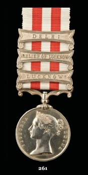 """Indian Mutiny Medal (with """"RELIEF OF LUCKNOW"""" clasp)"""
