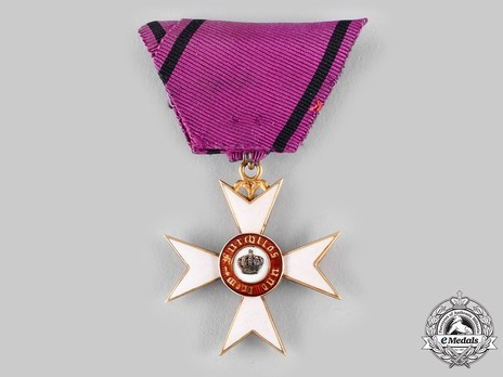 Order of the Württemberg Crown, Civil Division, Knight's Cross (in gold, 1818-1864) Reverse