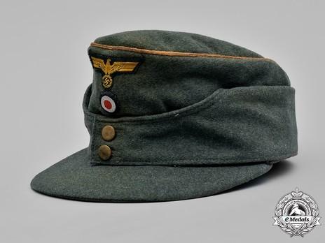 Kriegsmarine Officer Ranks Coastal Artillery Visored Field Cap Profile