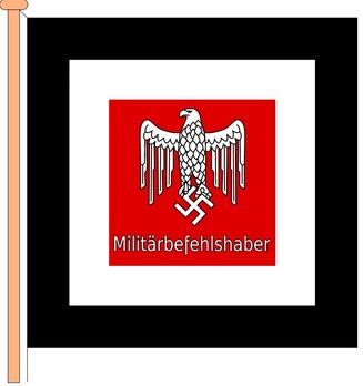 German Army Command Flag for Military Territorial Commanders Obverse