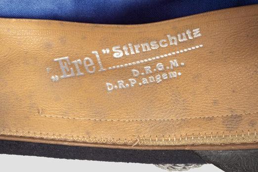 Kriegsmarine Blue Administrative Officials Visor Cap Stamp Detail