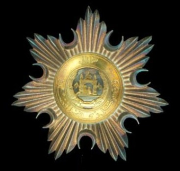 Order of the Leader (Nishan-i-Sadari), II Class Knight Commander Breast Star  (Sardar-i-Ali)
