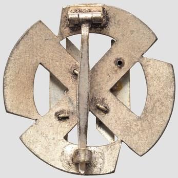 SS Germanic Proficiency Runes Badge, in Silver Reverse