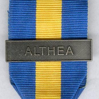 """Silver Medal (with """"ALTHEA"""" clasp) Clasp"""