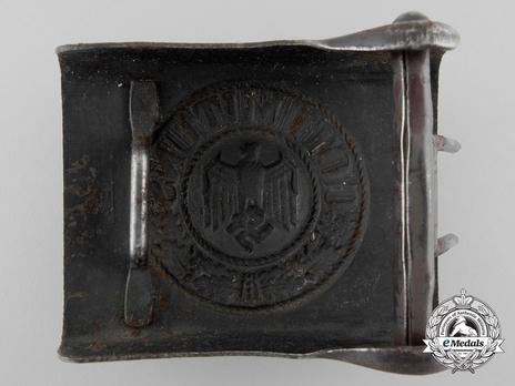 Kriegsmarine NCO/EM Belt Buckle (Blue-Grey version) Reverse
