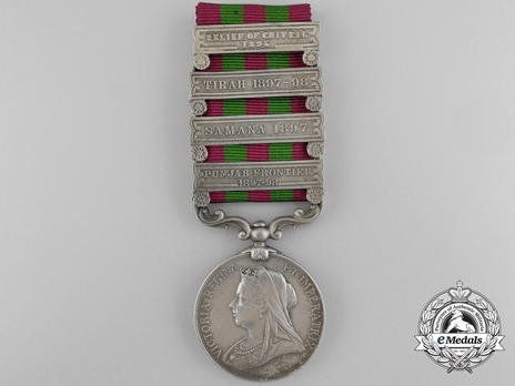Silver Medal (with 4 clasps) (1896-1901) Obverse