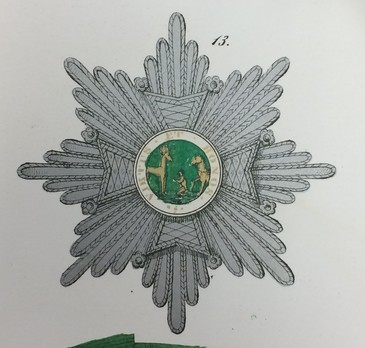 Order of Saint Hubert, Grand Cross Breast Star Obverse