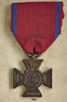 Military Long Service Cross for 20 Years