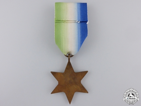 """Bronze Star (with """"FRANCE AND GERMANY"""" clasp) Reverse"""