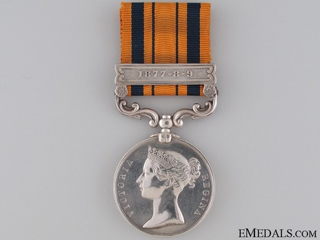 "Silver Medal (with ""1877-8-9"" clasp) Obverse"