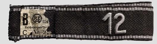 Allgemeine SS 12th Standarte Cuff Title Obverse