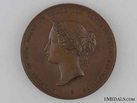 Bronze Medal (for gallantry, 1854-1901) Obverse