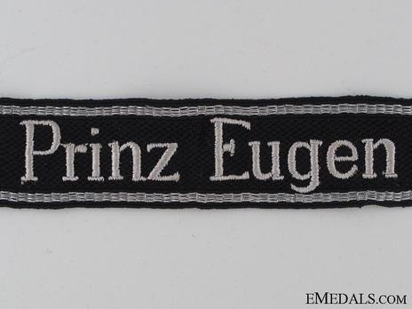 Waffen-SS Prinz Eugen NCO/EM's Cuff Title (RZM machine-embroidered version) Obverse