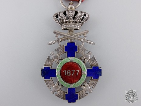 The Order of the Star of Romania, Type II, Military Division, Knight's Cross (peacetime) Reverse