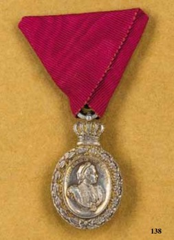 Silver Commemorative Medal for the 81st Birthday of Queen Marie of Hanover