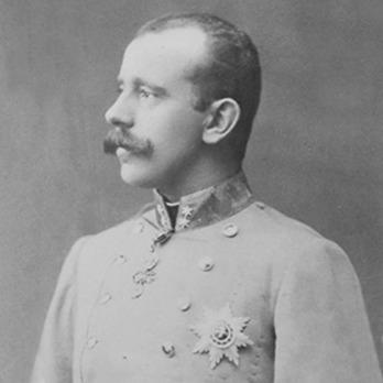 Crown Prince Rudolf wearing an Order of St. Stephen Breast Star
