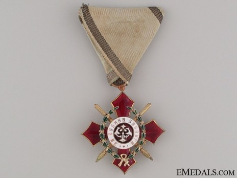 Order of Military Merit, V Class (with war decoration 1916-1944) Obverse
