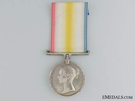 Silver Medal (for the Battle of Hyderabad) Obverse
