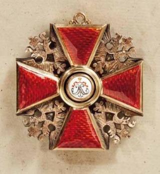 Order of Saint Alexander Nevsky, Type III, Civil Division, Cross (with diamonds) Reverse
