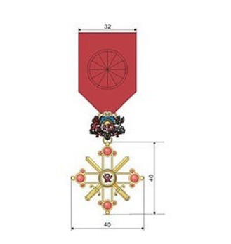 Military Order of Viesturs, IV Class, Military Division Obverse
