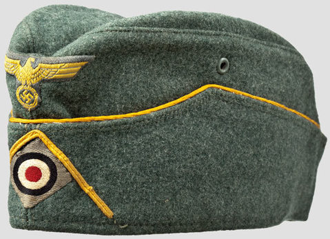 "Kriegsmarine Officer Ranks Early ""Klappmütze"" Coastal Artillery Field Cap Profile"
