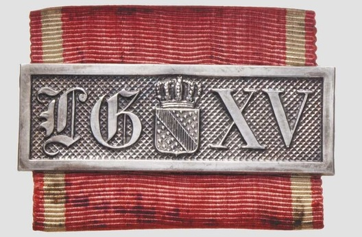 Military Long Service Bar, II Class (1868-1913) (for 15 Years) Obverse