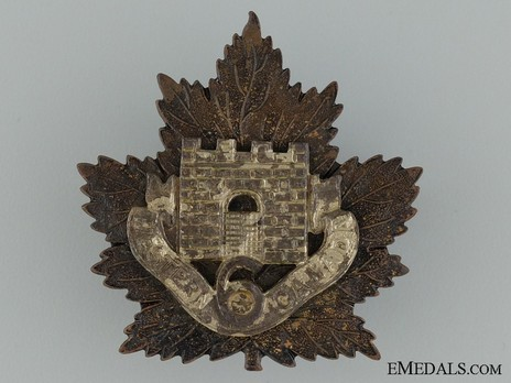 6th Infantry Battalion Other Ranks Cap Badge (Solid) Obverse