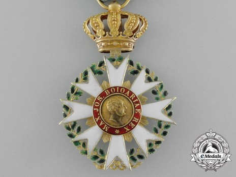 Merit Order of the Bavarian Crown, Knight's Cross (in gold) Obverse