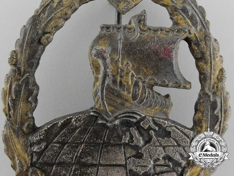 Naval Auxiliary Cruiser War Badge, by R. Souval Detail