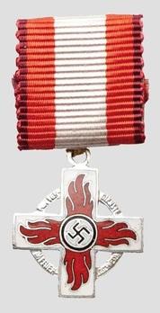 Miniature Fire Brigade Honour Badge, II Class (1938-1943) Obverse
