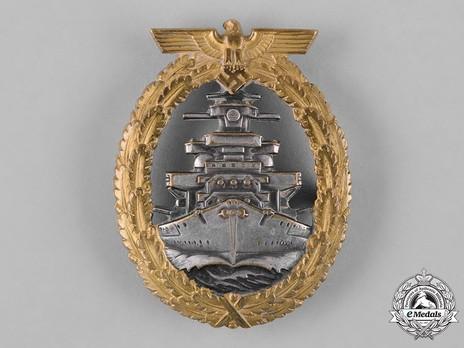 High Seas Fleet Badge, by C. Schwerin (in tombac) Obverse