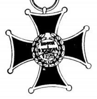 Order of Virtuti Militari, Type II, Knight Reverse