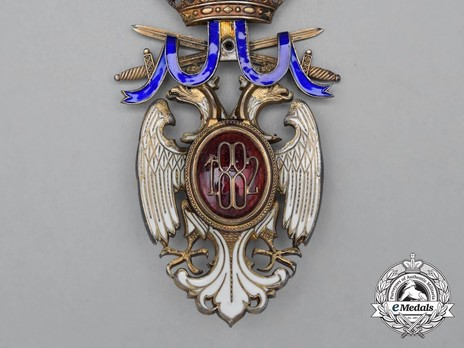 Order of the White Eagle, Type III, Military Division, I Class Reverse