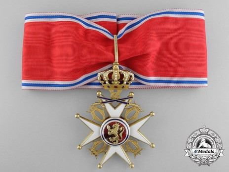 "Order of St. Olav, II Class Commander, Military Division (stamped ""J. TOSTRUP OSLO"") Obverse"