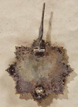 German Cross, in Gold, by Deschler (10 rivets) Reverse