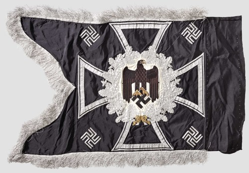 German Army General Army Unit Flag (Engineer Motorized and Mounted version) Reverse