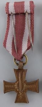 Miniature Bronze Cross Reverse
