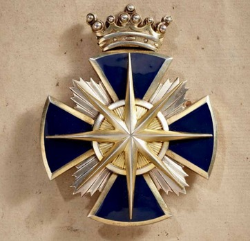 Order of the Star of Brabant, II Class Grand Commander Breast Star (with crown)