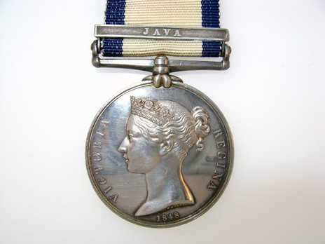 """Silver Medal (with """"JAVA"""" clasp) Obverse"""