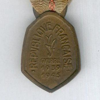 "Bronze Medal (stamped ""G. SIMON"" ""F. JOSSE"") Reverse"